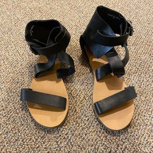 Urban Outfitters Strappy Black Sandals